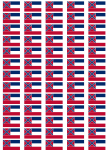 Mississippi Flag Stickers - 65 per sheet